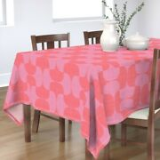 Tablecloth Coral Pink Lipstick Red Magenta Lavender Tessellate Mod Cotton Sateen