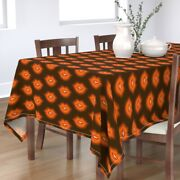 Tablecloth Lips Kiss Valentines Day Sweet Brown And Orange Teeth Cotton Sateen