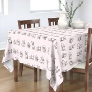 Tablecloth Friendly French Bulldogs Bulldog Pug Puppies Frenchie Cotton Sateen