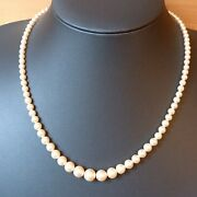 Vintage Faux Pearl Necklace Statement Art Deco Style Clasp Costume Jewellery.