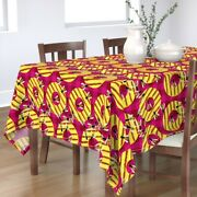 Tablecloth Fruit Pineapple Bbq Grill Yellow Wasp Cotton Sateen