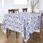 Tablecloth Blue And White China Pattern Delft Flow Pattern Classic Cotton Sateen