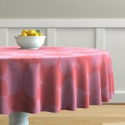 Round Tablecloth Coral Pink Lipstick Red Magenta Lavender Cotton Sateen