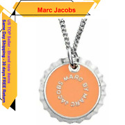 Marc By Marc Jacobs Orange/ Silver Lost And Found Bottle Cap Pendant Necklace