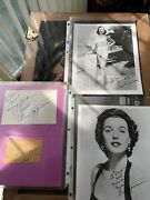 3- Bess Myerson Autographs 2 Photos And A Card Hard To Find This Lot