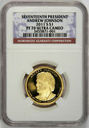 2011-s Presidential Dollar Ngc Pf70 Andrew Johnson Ultra Cameo Priced Right
