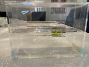Muji Acrylic Display Case Stand With Sliding Doors Sealed New In Package