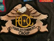 H.o.g. Patch With 30 Free Americade Patches Plus Vest. Sz Large Free Shipping