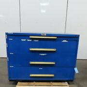 Equipto 4 Drawer Industrial Parts Tool Storage Shop Cabinet 60w X 28d X 44h