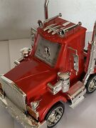 American Time Big Rig Red Semi Truck Alarm Clock W/lights And Sound Taiwan New