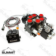 Hydraulic Monoblock Solenoid Directional Control Valve 2 Spool 27 Gpm 24v Switch