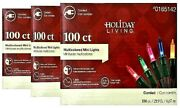 3 Boxes Holiday Living 100 Ct Multi Color Mini Lights Christmas Tree Coverage