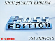 Boss Edition Chrome Fit All Cars Truck Custom Emblems Adition Addition Auto 3d