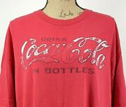 Drink Coca Cola In Bottles Size Xxl Red T-shirt Retro Style Coke Faded