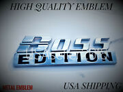 The Boss Edition Chrome Fit All Cars Logo Custom Emblem Letters High Quality