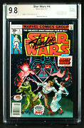 Star Wars 4 Pgx 9.8 Nm/mt - A New Hope Marvel - Signed Stan Lee + Cgc