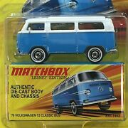 Matchbox Lesney Edition 2010 - And03970 Volkswagen T2 Classic Bus Blue/wht C 2010