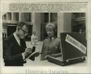 1968 Press Photo Committee Members Outside State Department In Washington