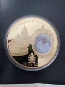American Mint -great Popes Coin - Pope Francis - 2015 - Gold Layered