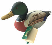 Vintage Hornick Bros. Mallard Drake Stoney Point Duck Decoy 2000 Signed With Tag