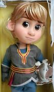 Disney Frozen Kristoff Animator Collection Doll L And Sven Soft Toy - New