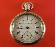 Antique Hamilton 926 Pocket Watch 18 Size 17 Jewels Heavy Coin Silver Case