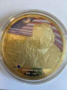 American Mint Our Heroes Our Flags 24k Layered Gold