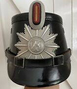 Excellent Example Of A Ww2 German Police Gendarmerie Shako With Assmann Insignia