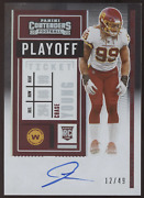 2020 Panini Contenders Chase Young Playoff Ticket Rc Auto Autograph /49
