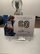 2020-21 Panini Impeccable Allen Iverson Stats On Card Auto 15/60 Points Is-aiv