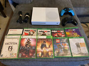 Microsoft Xbox One S 1tb Console Bundle 10 Games 2 Controllers Free Shipping