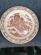 Wallace China Pioneer Trails Westward Ho Apple Valley Ranchos Dinner Plate
