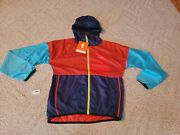 Cotopaxi Teca Windbreaker Womens X-small Xs Red Teal Navy Packable New Tags Q10