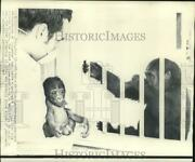 1969 Press Photo Don Farst, Columbus Zoo Veterinarian With Emy's Baby Brother