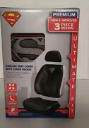 Dc Superman 3-piece Sideless Seat Cover With Cargo Pocket