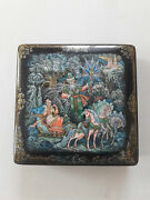 Russian Kholuy Lacquer Box Morozko Hand Painted Paper - Mache Jewelry Box