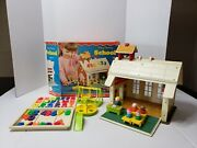 Vintage Fisher Price Little People Play Family School House 923 1971