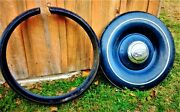 1936 Ford Spare Tire Cover Complete With Chrome Ring Hubcap Lock And Key