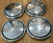 Ford Motor Company Set Of 4 1969-1973 Dog Dish Hubcaps Fomoco 10.5by1 5/8 Deep