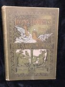 Antique Book Living Thoughts From Poet Sage And Humorist By Daphne Dale 1891