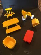Vintage 1970s Hasbro Weebles Wobble Lot Tree House Accessories Furniture
