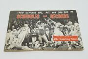 1969 The Sporting News Football Schedule And Record Book Nfl Afl And College