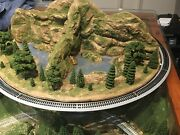 N Scale Layout Mountains W/lake Caves W/2 Springs 21 X 10-1/2 X 7 W/track