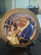 Disney 3d Collectible Beauty And The Beast Plate