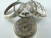 Rare Pair Case Silver Pocket Watch With Calender. Hallmark 1782 Signed By Leelay