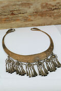 Berber Torque Necklace Bronze Antique Collection Beads African Ethnic Fish Old