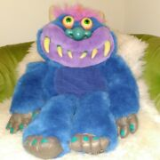 Vtg Toymax My Pet Monster Large Plush Voice Box Tested Works No Cuffs