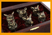 Set Of Glasses Shot Glass Beasts Hunt Vip Gift Set Russia Drinking Leather Case
