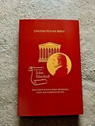 2005 P Chief Justice John Marshall Coin And Chronicles Set