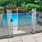 4ft Black Removable Pool Privacy Backyard Deck Garden Patio Fence With Poles